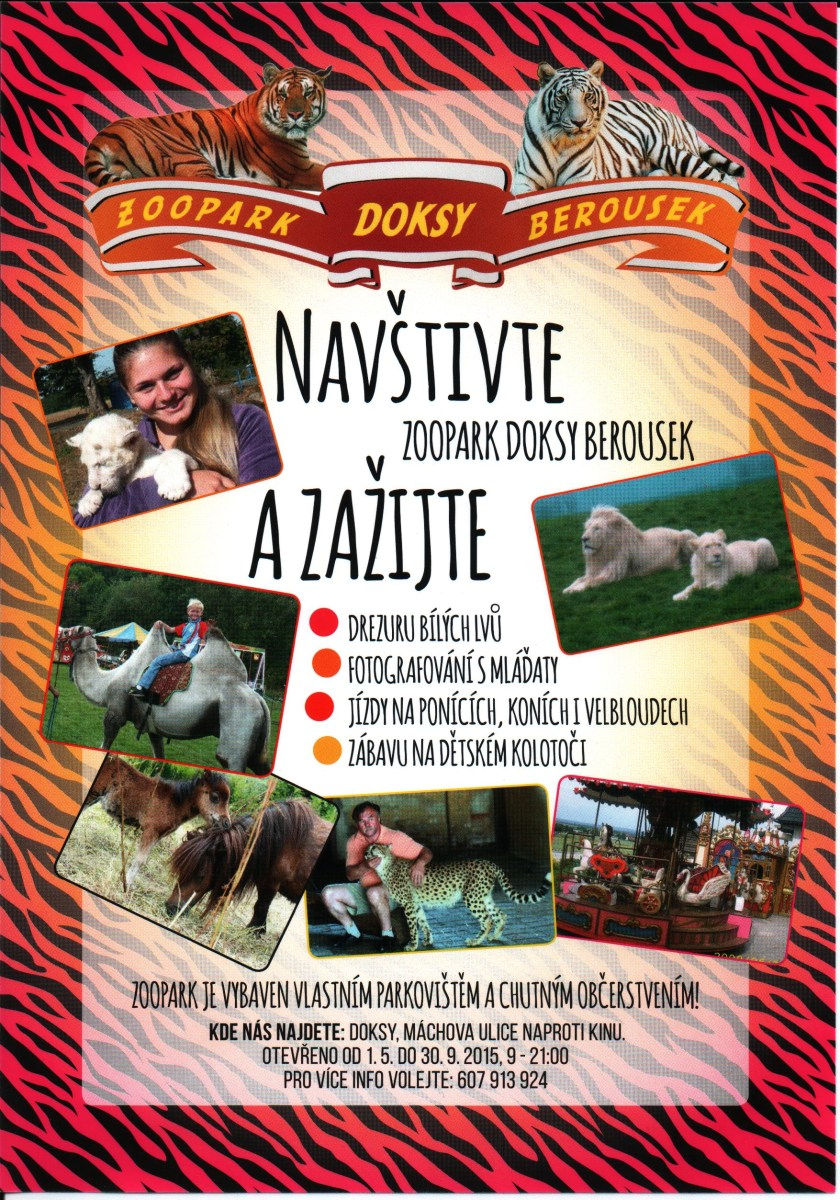 Zvířata pro film, zoopark Berousek