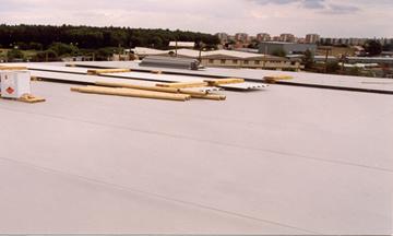 Hydroizolace střechy haly