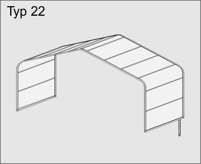 Dvojité rovné stropní baldachýnové zatemnění