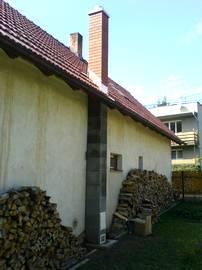 Přístavba venkovního komínu u RD v Albrechticích