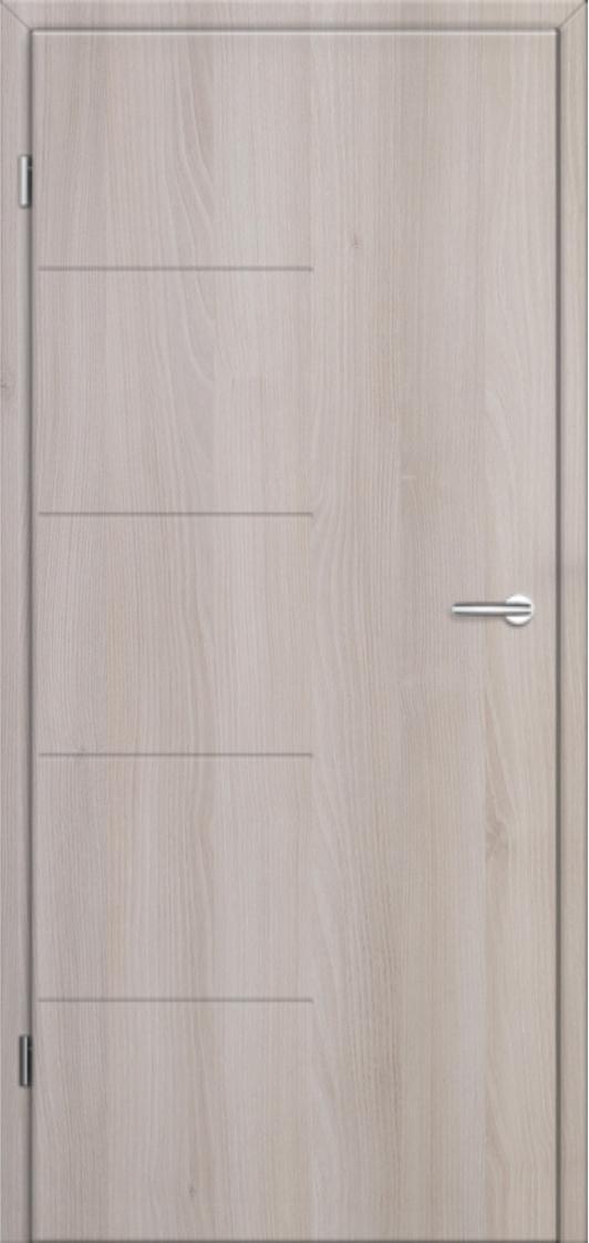 Dveře Lipbled - Akát, vsazené nerezové pásky
