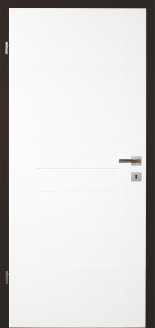 Dveře Lipbled R8L bílý lak/zárubeň ořech