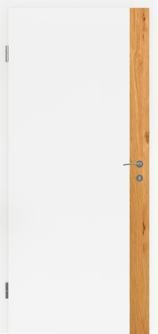 Dveře Lipbled Bellaline FIN 1 bílý lak/intarzie Dub sukatý