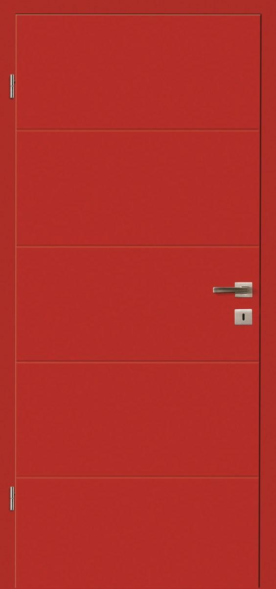 Dveře Lipbled R6L RAL3000/červená