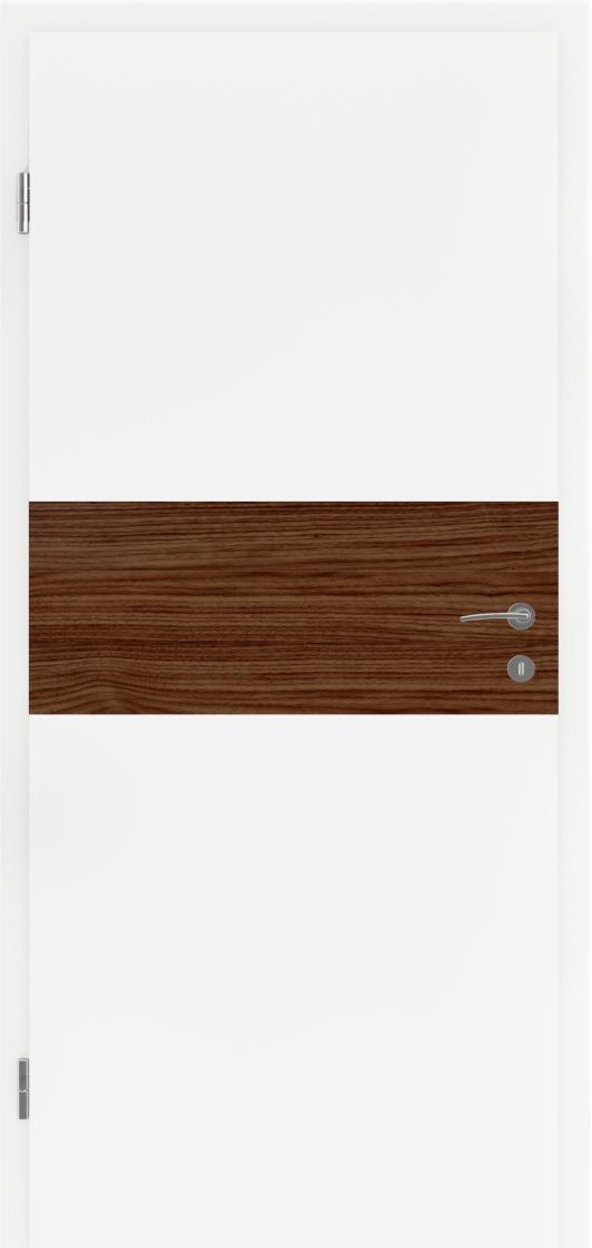 Dveře Lipbled Bellaline I19R32L bílý lak/intarzie ořech