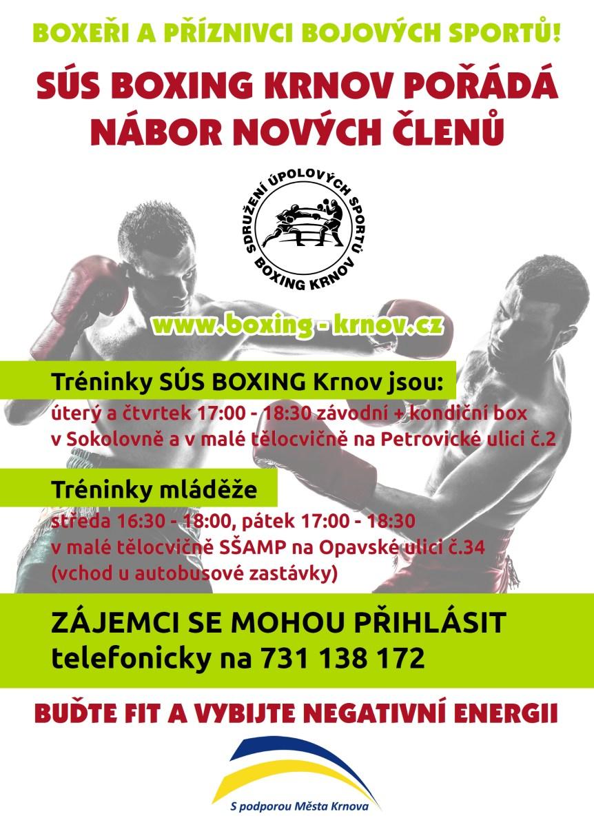 Nábor nový členů boxu a bojových sportů