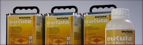 UA - uretan-alkydový, jednosložkový lak pro sportovní podlahy