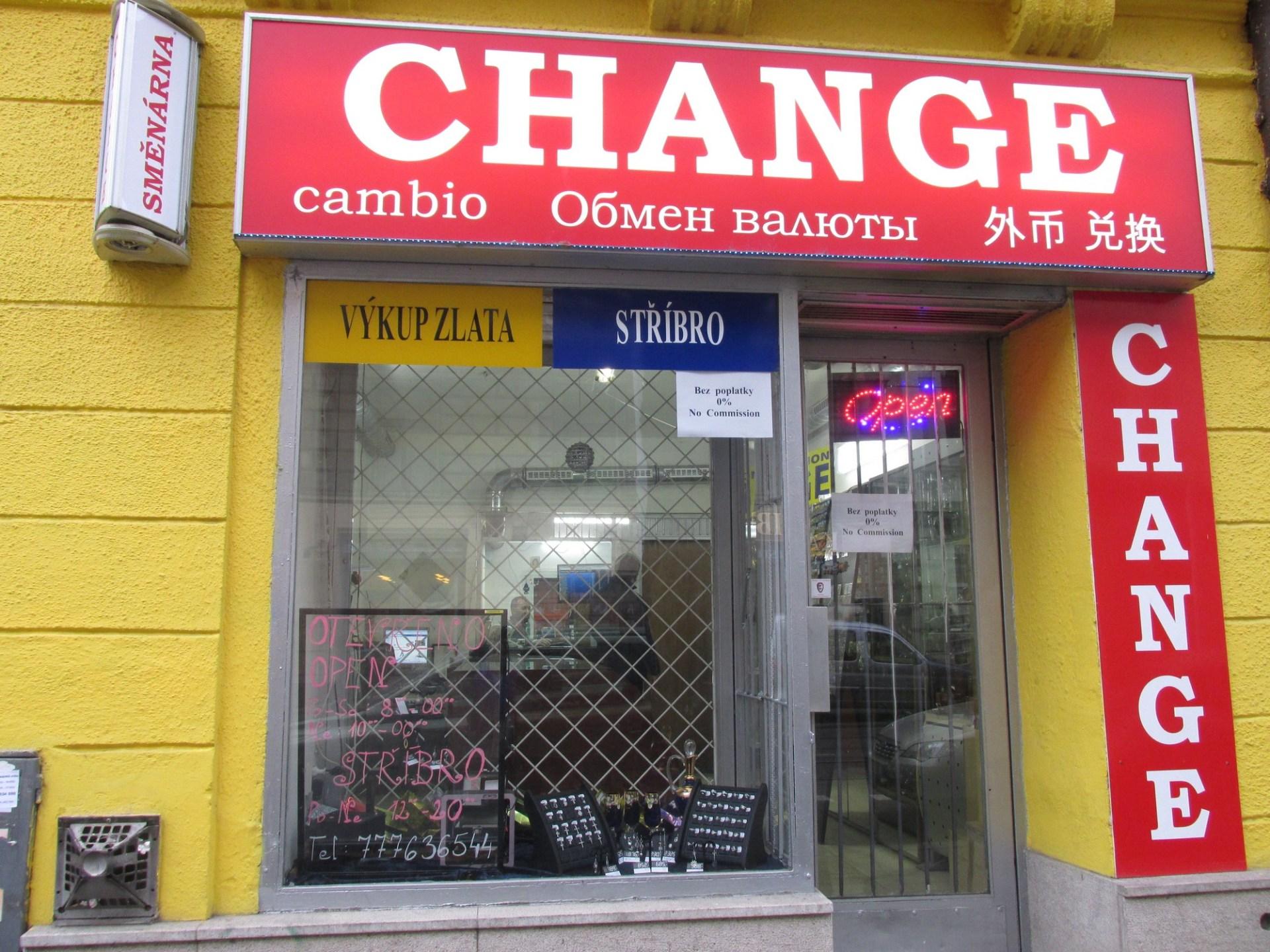 Směnárna - Change, Seifertova 681/79, Praha 3 - Žižkov