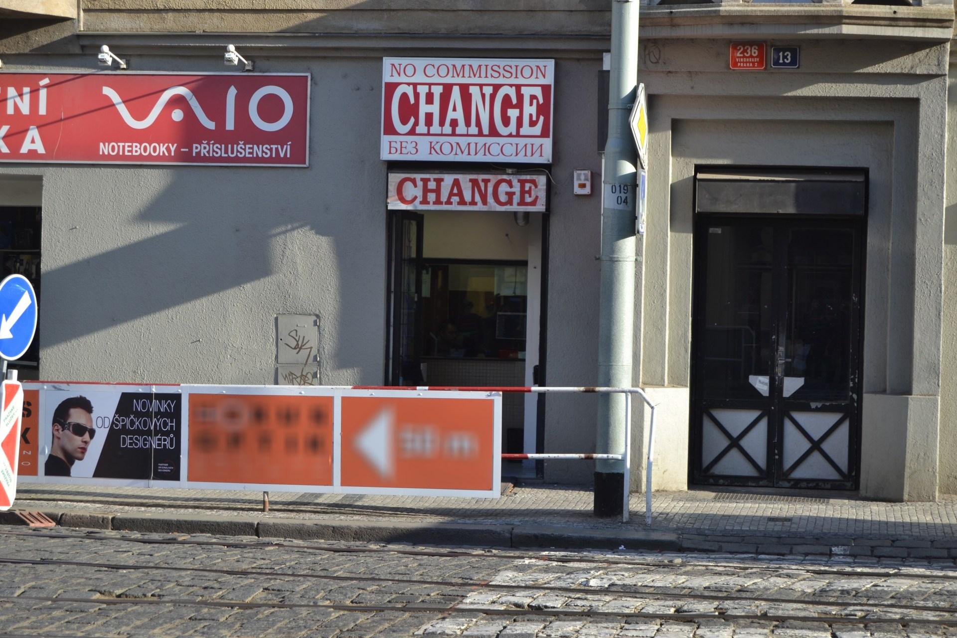 Směnárna - Change, Jugoslávská 236/13, Praha 2 - Vinohrady