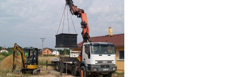 betonové jímky a ČOV Trial stav Plzeň
