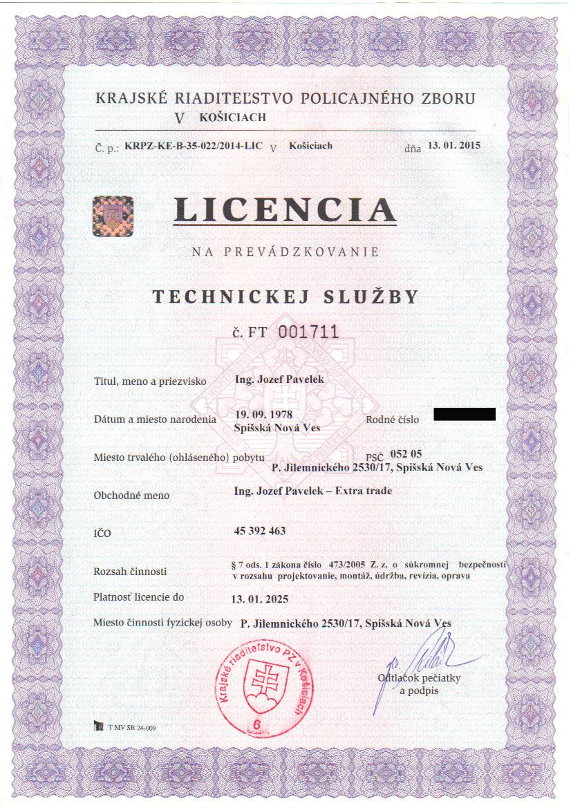 Licencia TS