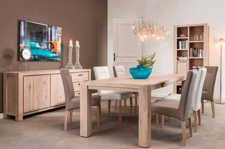 Jídelní stůl z dubového masivu 180x90cm v barvě bardolino
