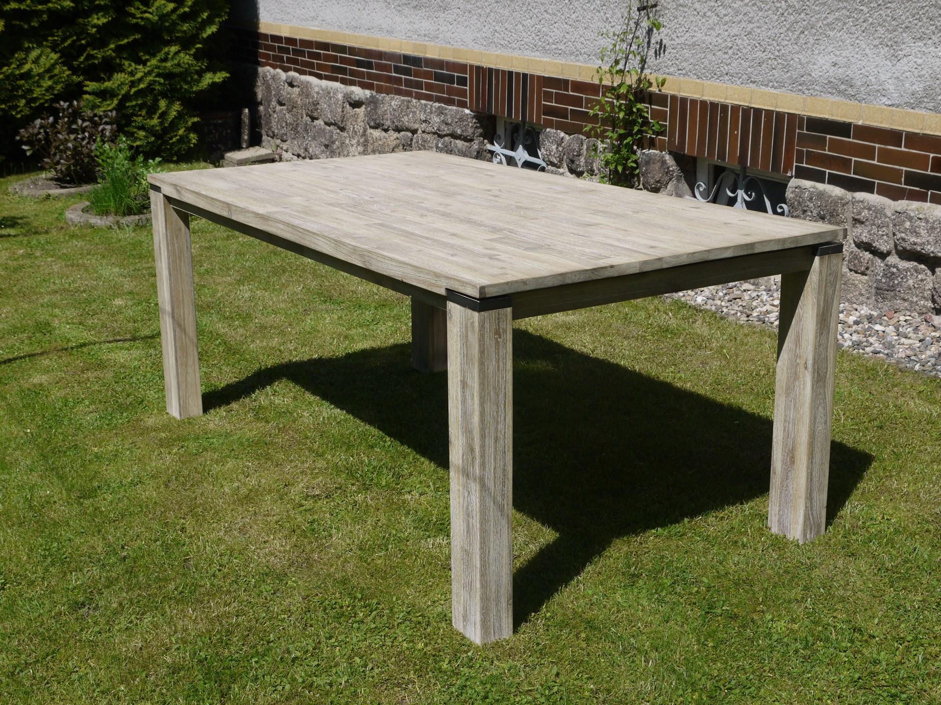 Kvalitní masivní jídelní stůl s rozkladem 160x100x77 cm +60 cm rozklad v přírodní šedé barvě