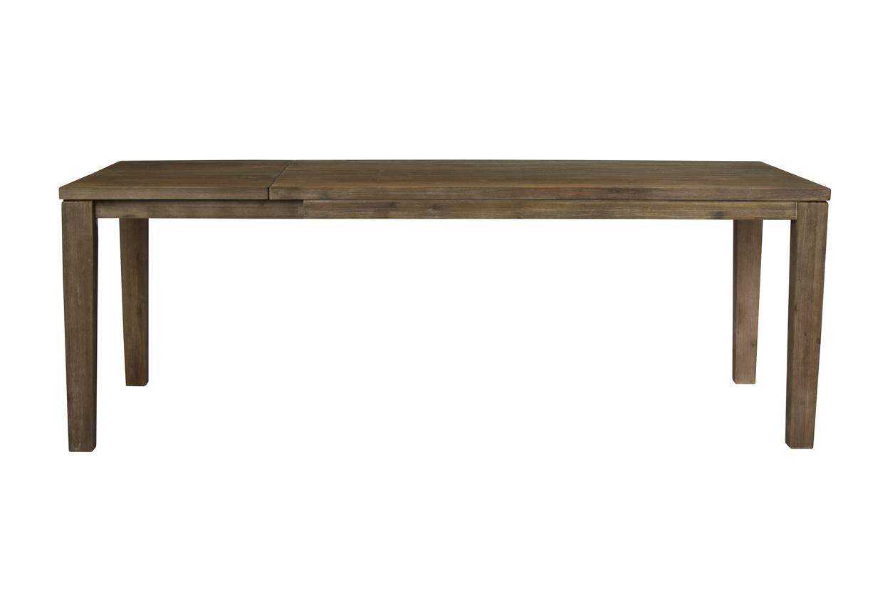 Nejlepší masivní jídelní stůl s rozkladem 160x100+50cm v hnědé barvě