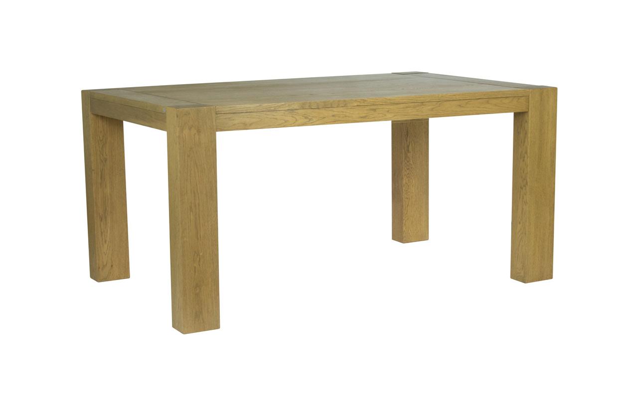 Masivní dubový rozkládací jídelní stůl 160x100+6+50cm