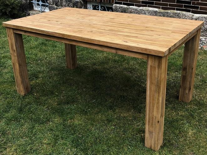 Masivní jídelní stůl 160x90cm