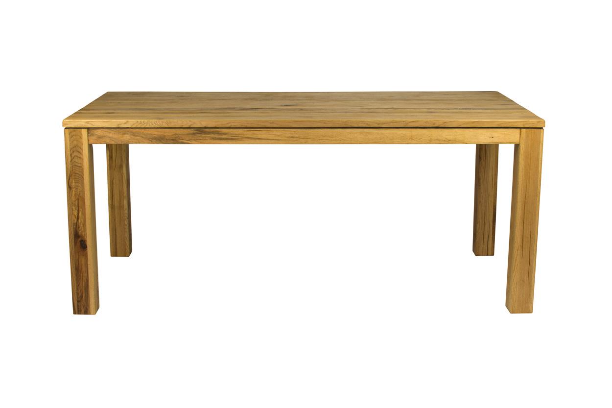 Masivní dubový jídelní stůl 180x90cm v přírodní barvě
