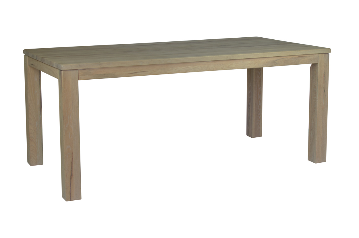 Masivní dubový jídelní stůl s rozkladem v rozměru 160x90x77cm + rozklad v přírodní barvě