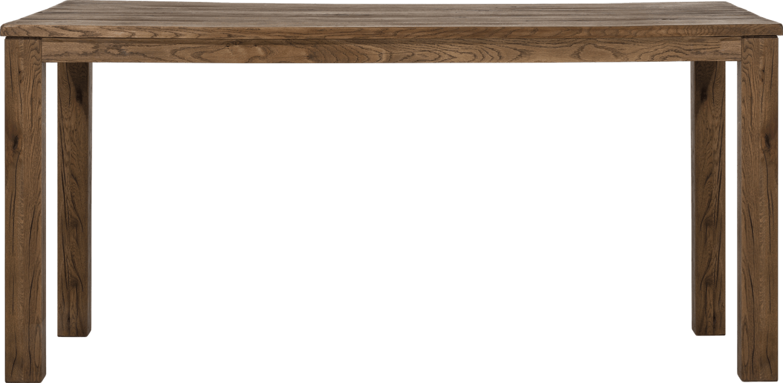 Masivní nerozkládací jídelní stůl z dubu 200x100cm, hnědý odstín