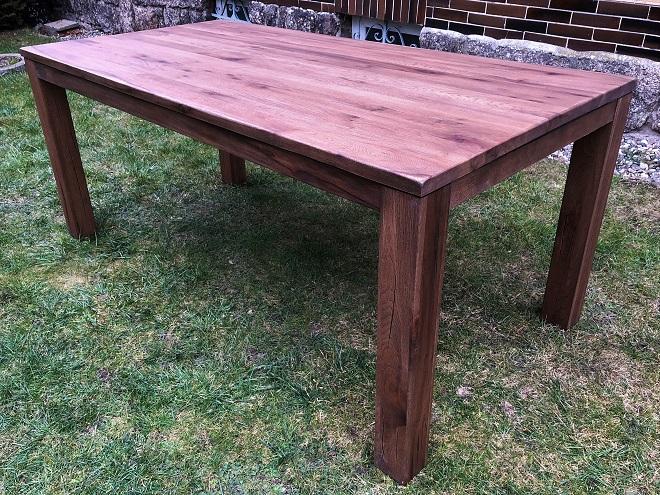 Nejlepší masivní dubový jídelní stůl v rozměru 180x90 cm + 60 cm rozklad