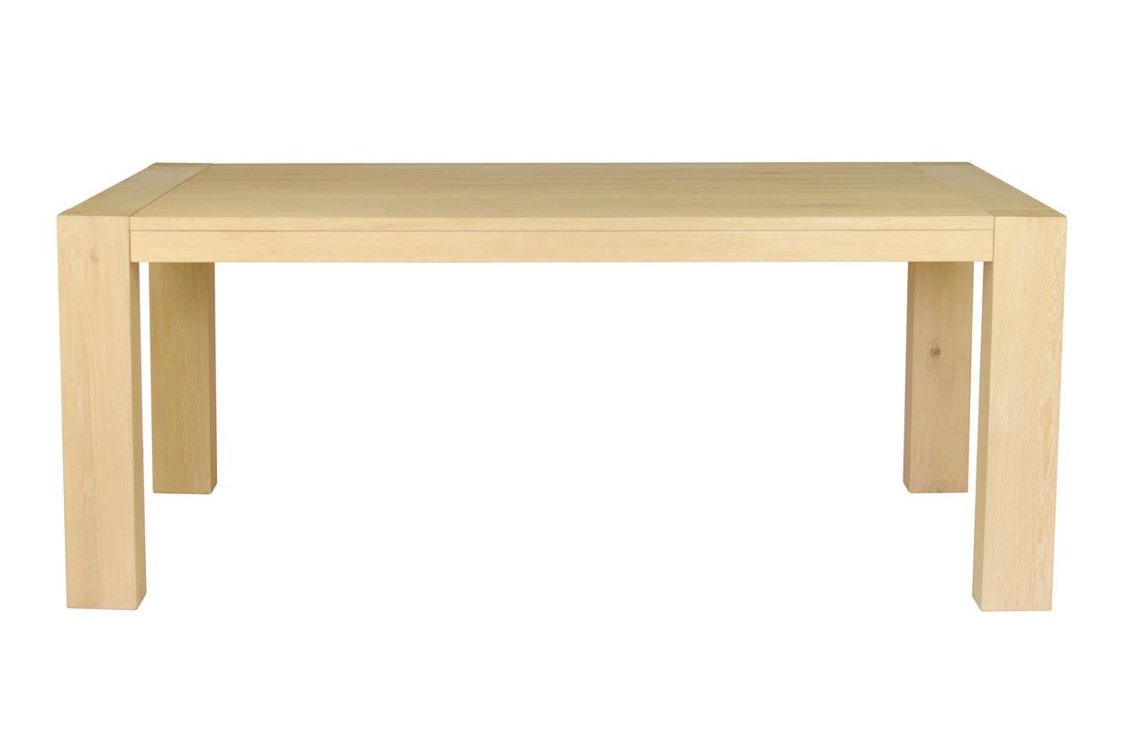 Masivní rozkládací jídelní stůl 160x100x77 cm v šedé přírodní barvě