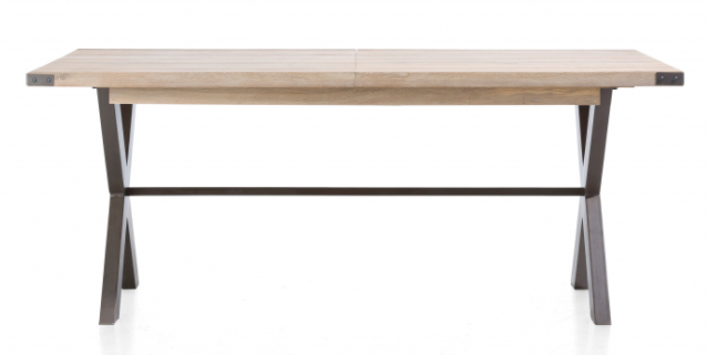 Moderní rozkládací jídelní stůl v industriálním designu 160x100 cm