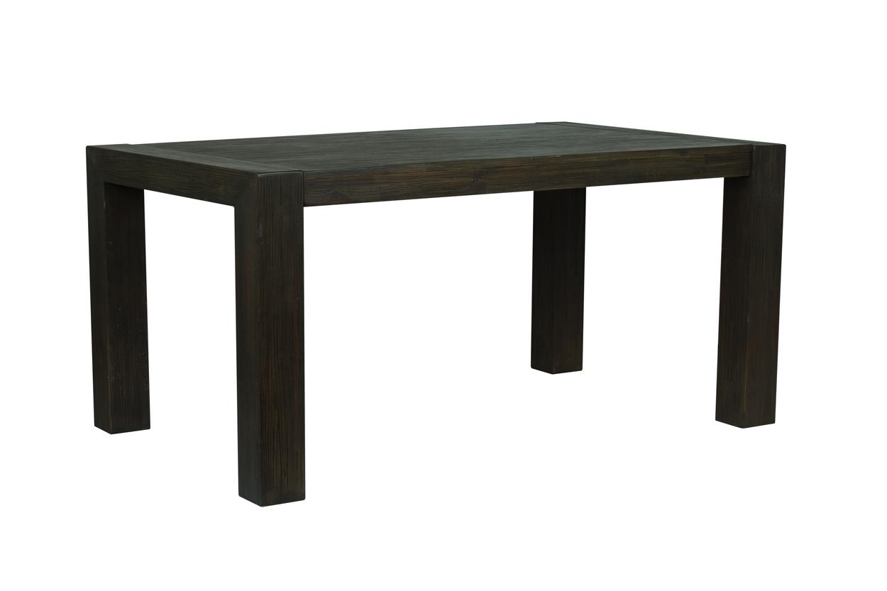 Nejlepší masivní jídelní stůl s kvalitním rozkladem v černém odstínu 160x100+60cm