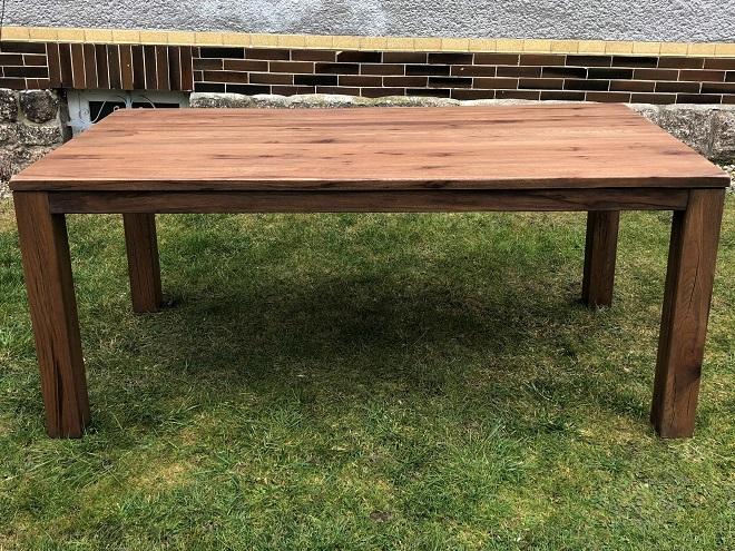 Dubový masivní jídelní stůl 140x90cm + 60 cm rozklad