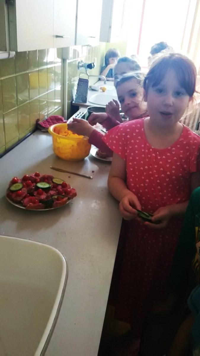 děti vaří