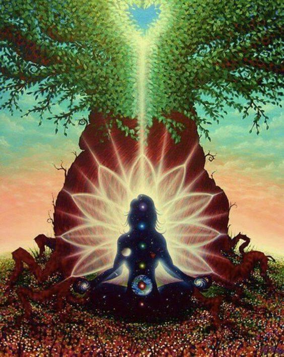 Kdyby jsme si měli takovou Velkou Mamu představit, viděla bych podobnej imič jako Panenka Marie a Ježíšek (tajmeství takovejch obrázků je, že skutečně reprezentujou matku stvořitelku a její lidstvo) … Maminka, kde její nohy jsou kořeny všech stromů na světě, její klín je naše bezpečná půda, po který běháme každej den, její náruč je nádherná příroda, která nás chrání, živí, dává kyslík, jídlo a všechno potřebný pro život, její hruď je bezpečná a uzavřená nebeská kopule z hvězdama a zodiakem, která objímá a uzavírá celou naší vyhrazenou zemskou plochu, její hlava je Polárka sama, která je nehybná a nejjasnější hvězda na obloze, kolem ní se točí celá kopule…. Wow, to je ale úplně jiná co..??