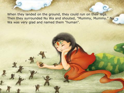 """""""Když přistáli na zemi, mohli běhat na jejich nohách. Potom obklopili NUWA a vykřikovali, """"Mami Mami"""" NUWA byla velmi ráda a pojmenovala je """"člověk"""" <3"""