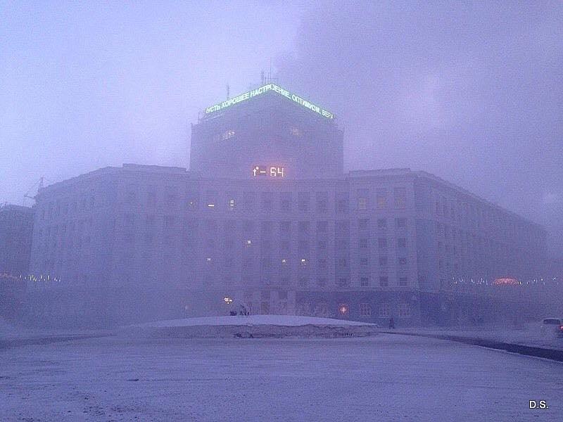 V Norilsku maj právě -64°C. Ideální místo pro umístění Muslimských běženců ze středního východu. místní niklové doly potřebují novou krev