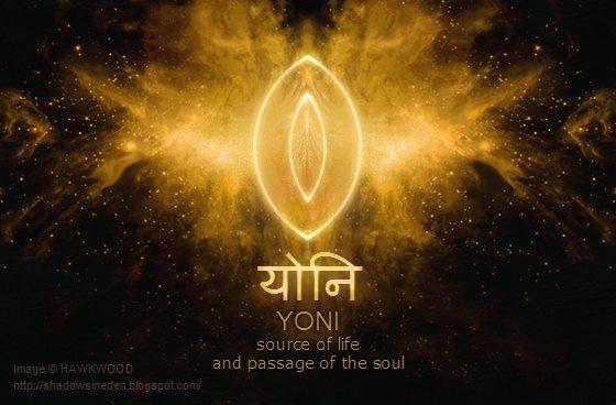 Yoni - zdroj života a průchod duše = Černá Díra = Lůně Kosmické Matky, ze které vyšel všechen život a zase se tam vrátí