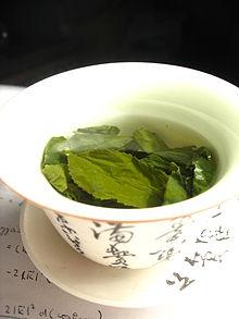 Čaj (z výslovnosti čínského 茶 – čcha v mandarínském a kantonském dialektu; v dialektu min významného přístavu Sia-men čteno te – odtud pojmenování v mnoha jiných jazycích