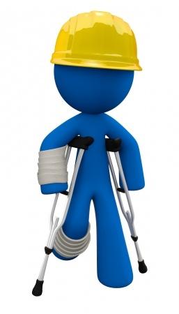 Pracovní úraz - podanná ruka
