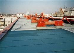 Izolace ploché střechy na sídlišti
