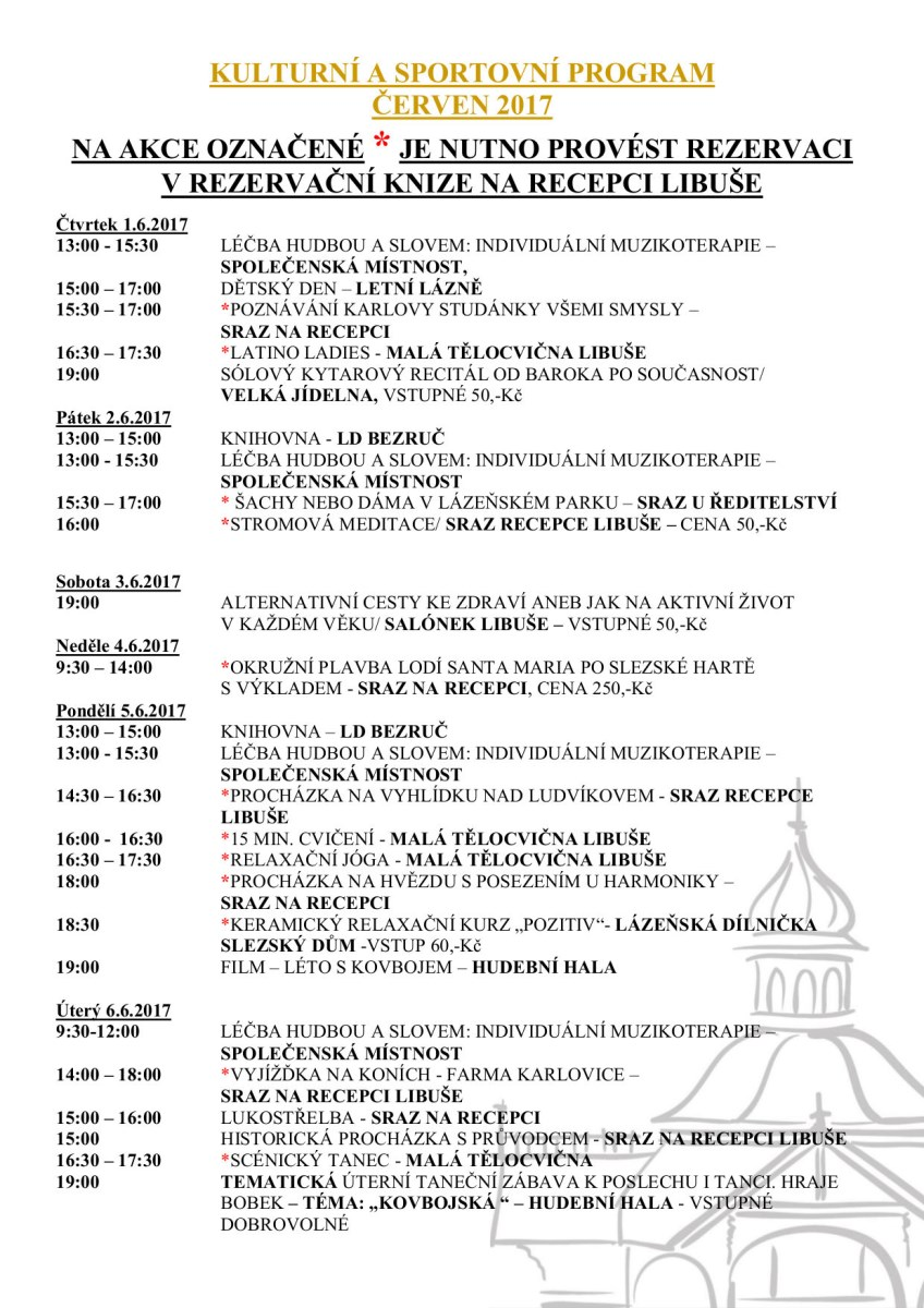 Program Karlova Studánka