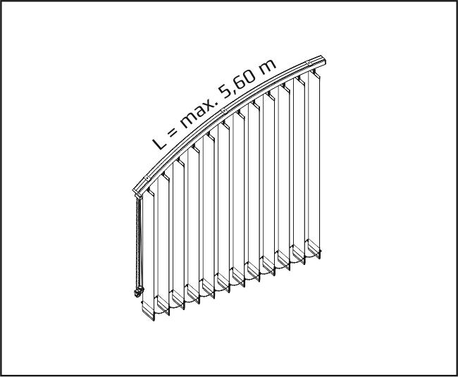 Vertikální žaluzie - Vertikálně obloukové zařízení
