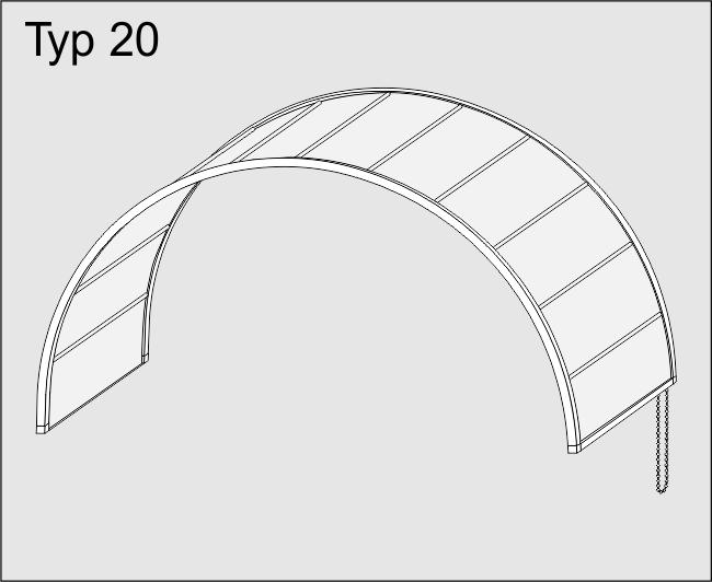Kruhové stropní baldachýnové zatemnění