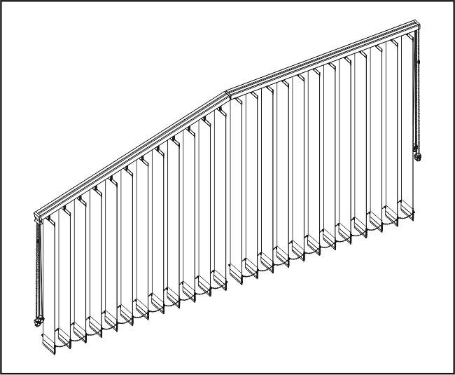 Vertikální žaluzie - Šikmé a rovné zařízení / s přesahem lamel