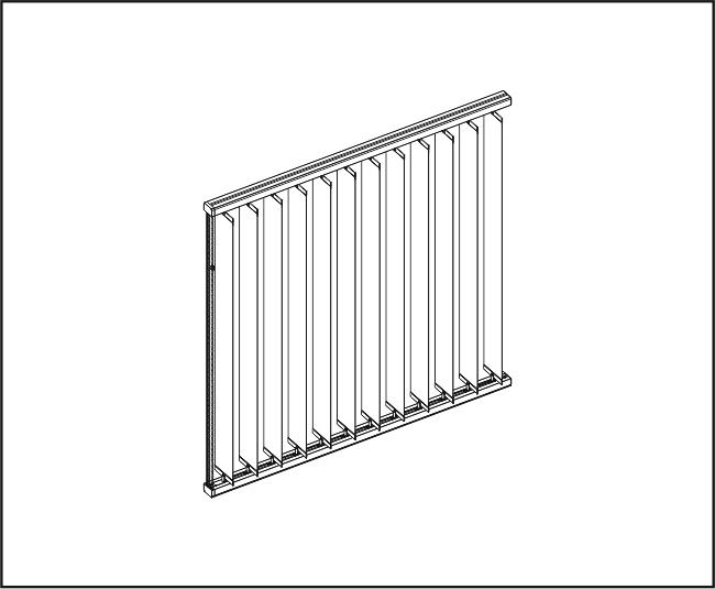 Vertikální žaluzie - Dvě rovné zařízení – horní a dolní