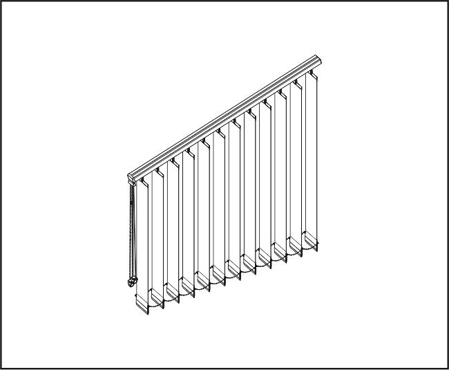 Vertikální žaluzie - Šikmé zařízení – Slope