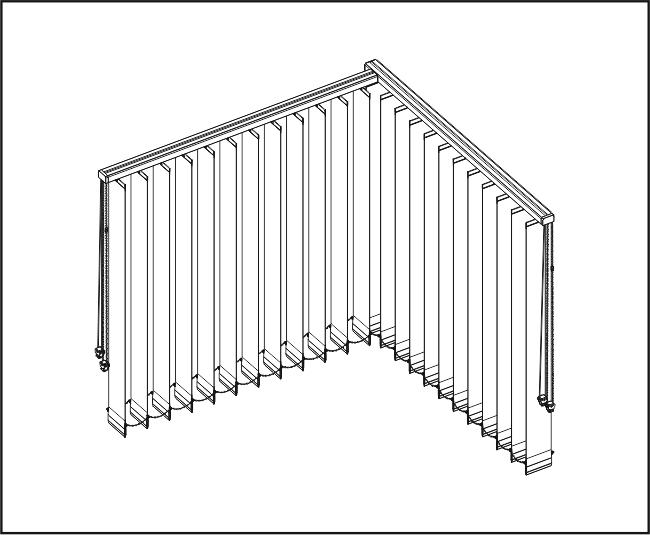 Vertikální žaluzie - Dvě rovné zařízení / rohové