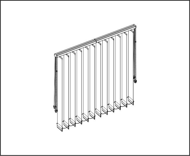 Vertikální žaluzie - Dvě rovné zařízení / s přesahem lamel