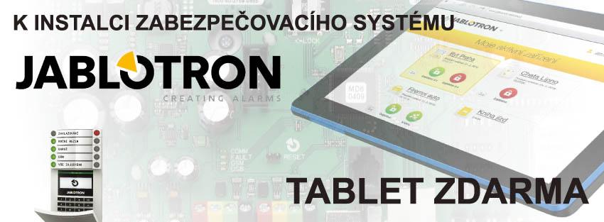 tablet zdarma k instalaci zabezpečovacího systému
