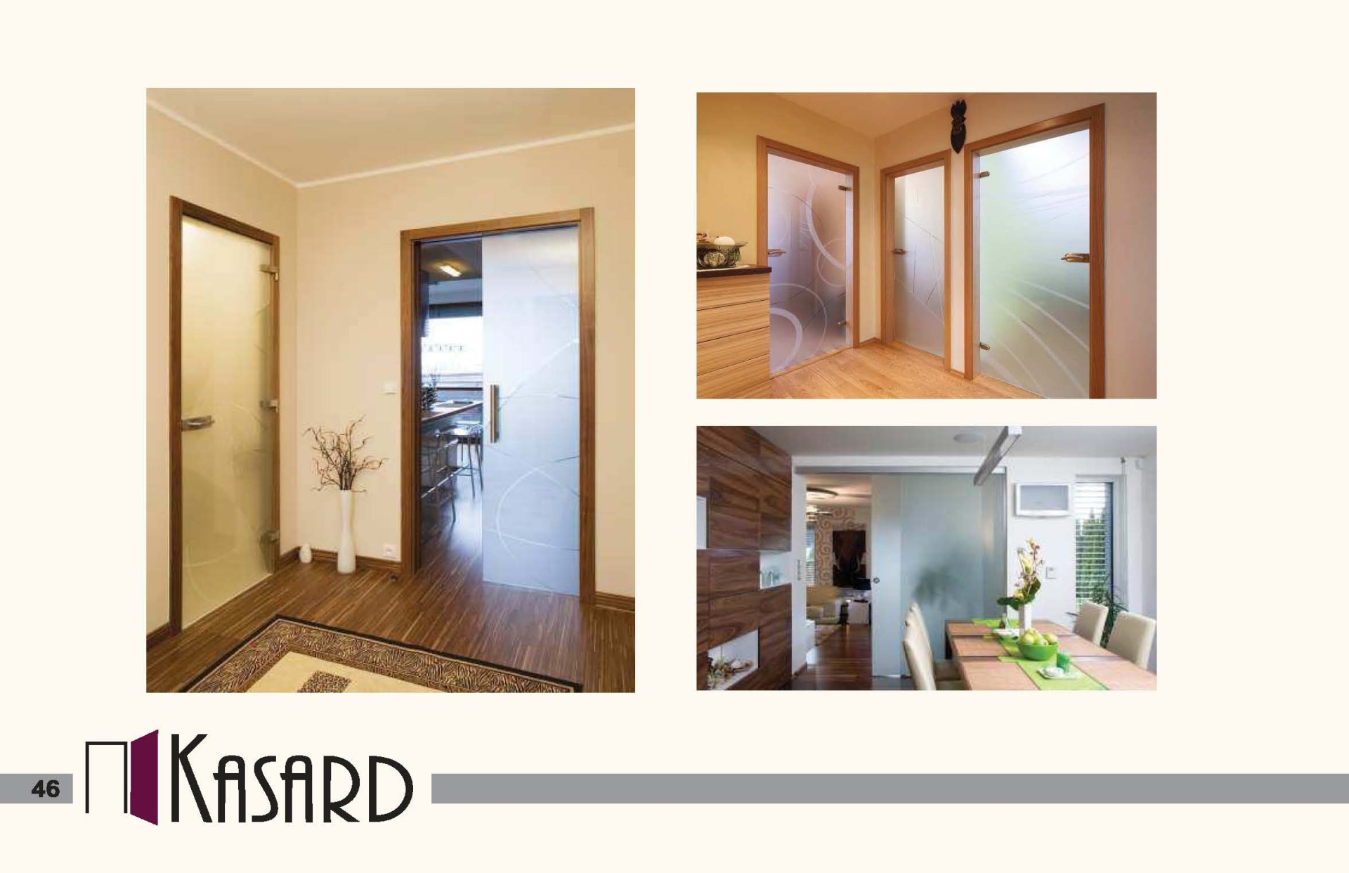 Celoskleněné dveře Kasard