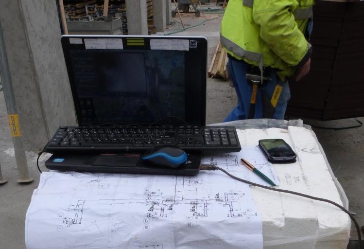Kamerová inspekce - monitor