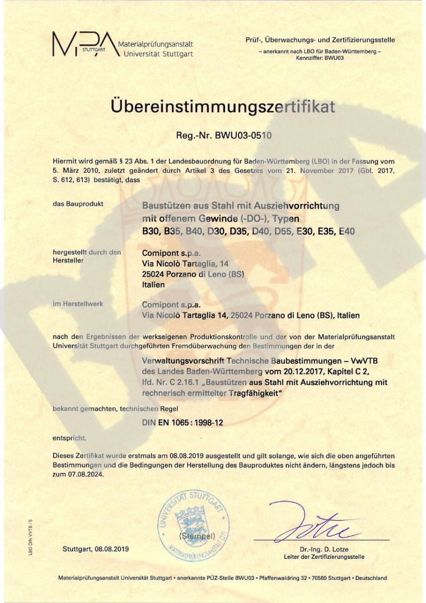 Bema Nedakonice certifikát