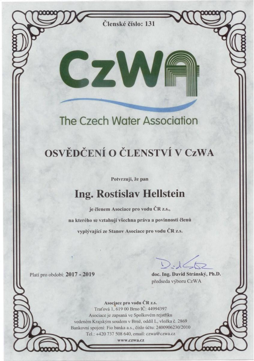 Osvědčení o členství v CzWa