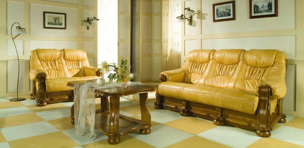 Stylová kožená sedací souprava Cezar I